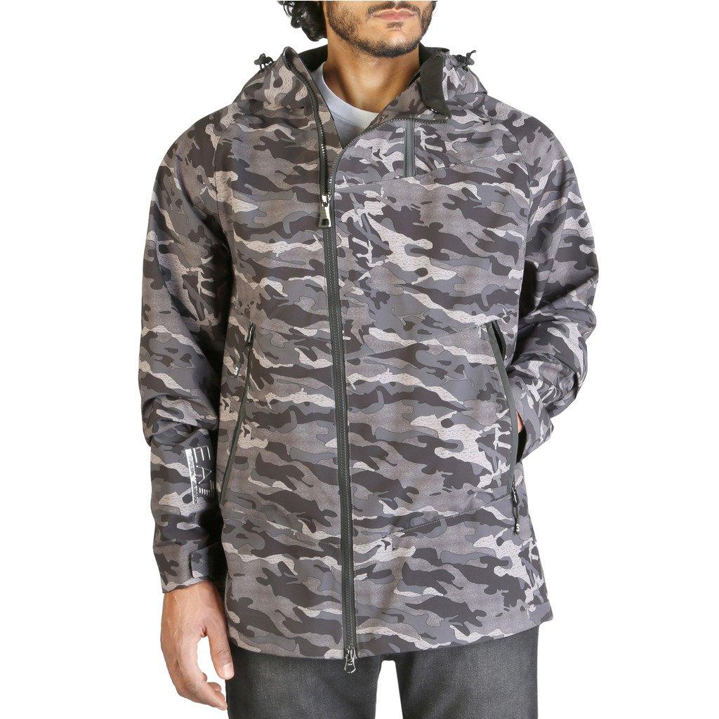 EA7 Men's Jacket Grey 6ZPG01_PNL6Z - grey M