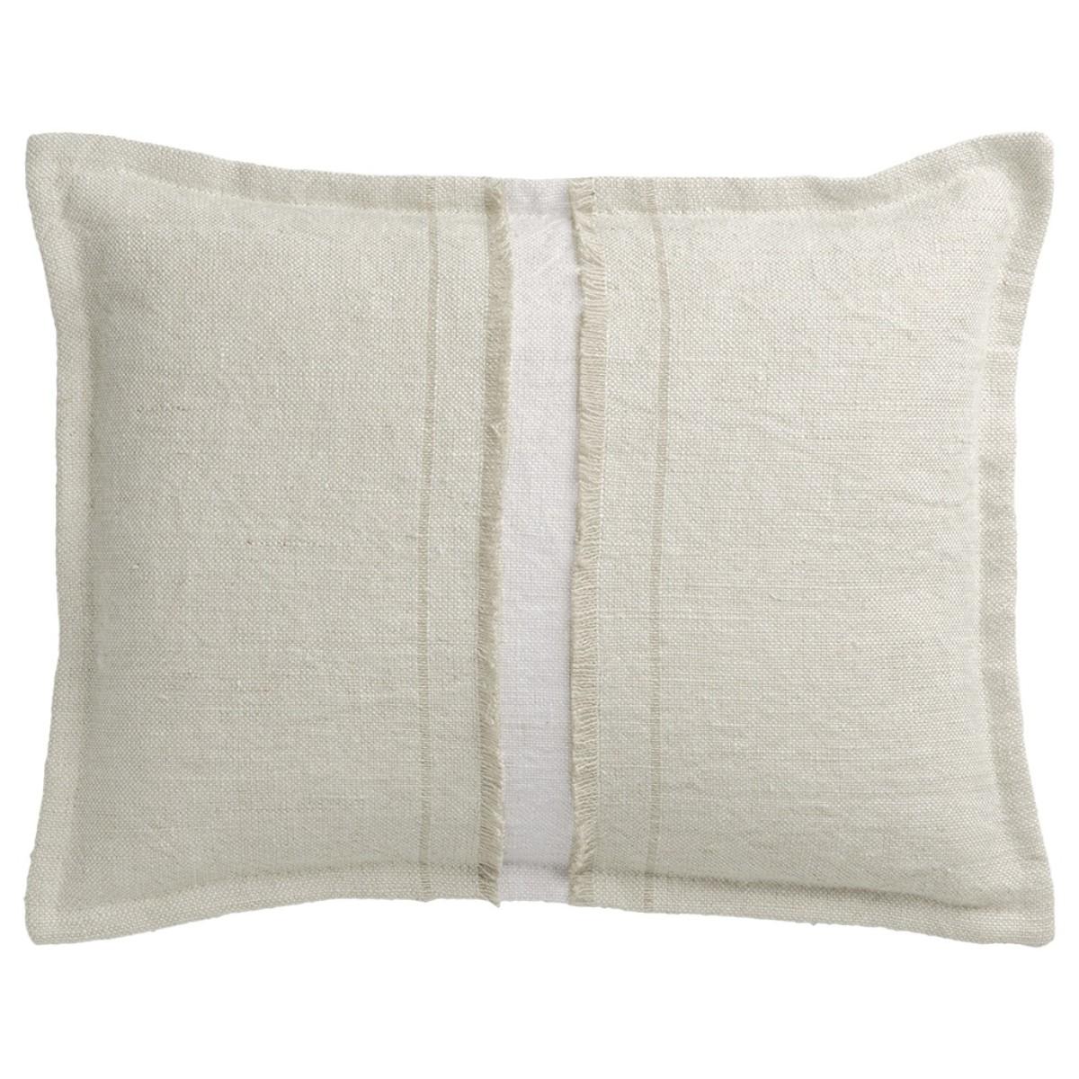 de Le Cuona   Haiku Cushion With Fringe Detail Husk