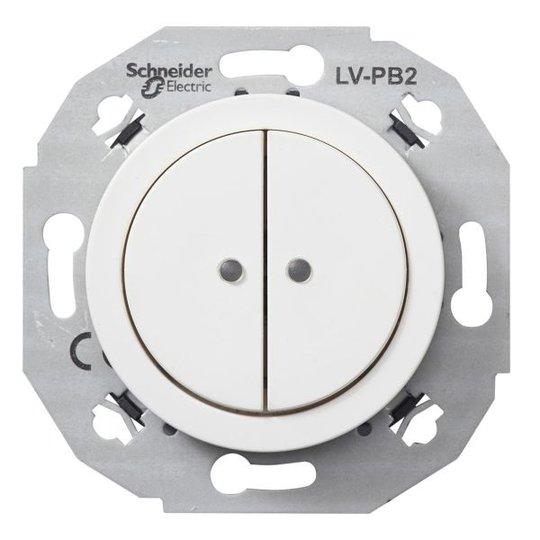 Schneider Electric WDE011071 Pienjännitepainike valkoinen 2-napainen
