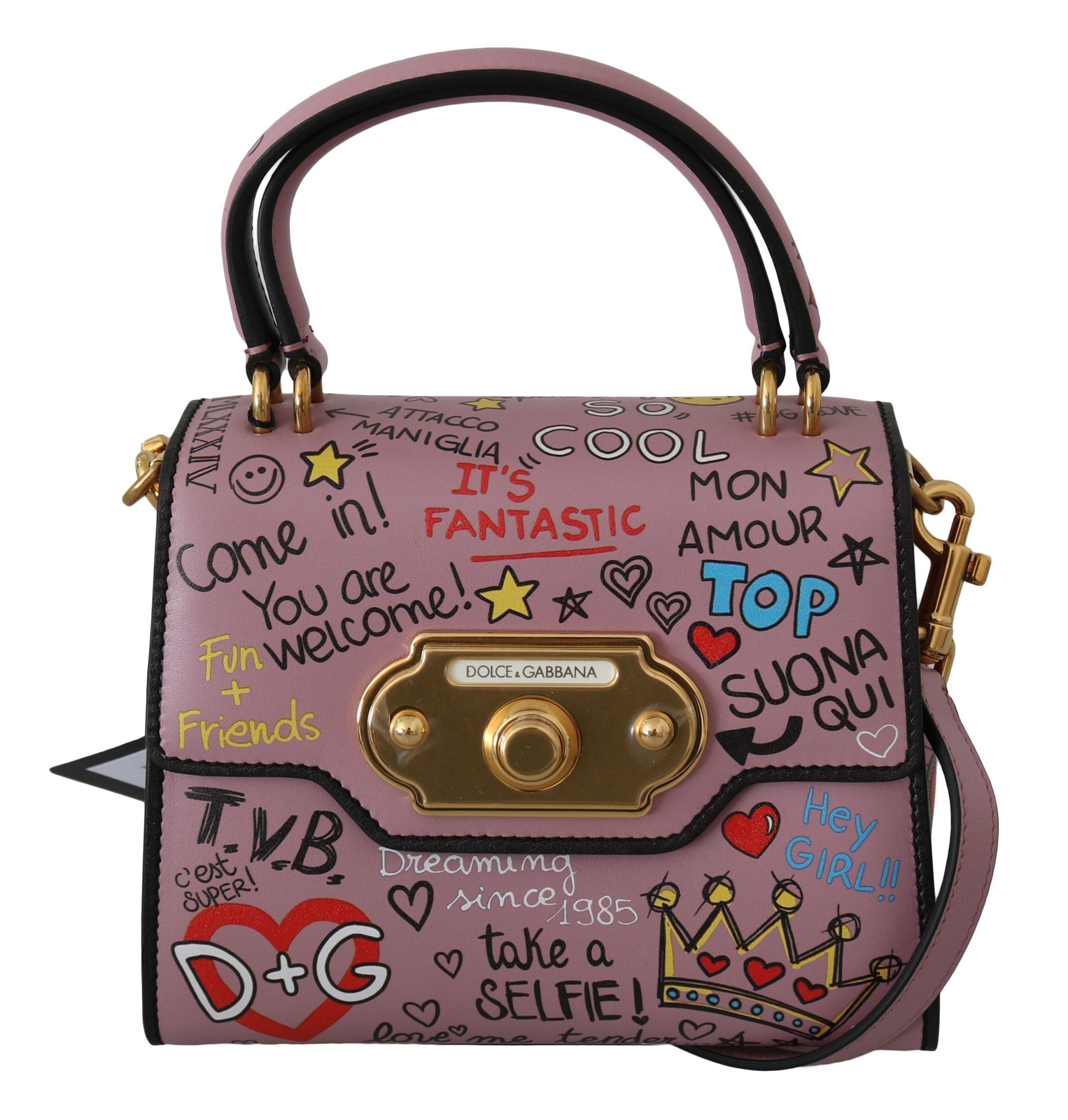 Dolce & Gabbana Women's Leather DG Crown Crossbody Bag Pink Pink VAS8745