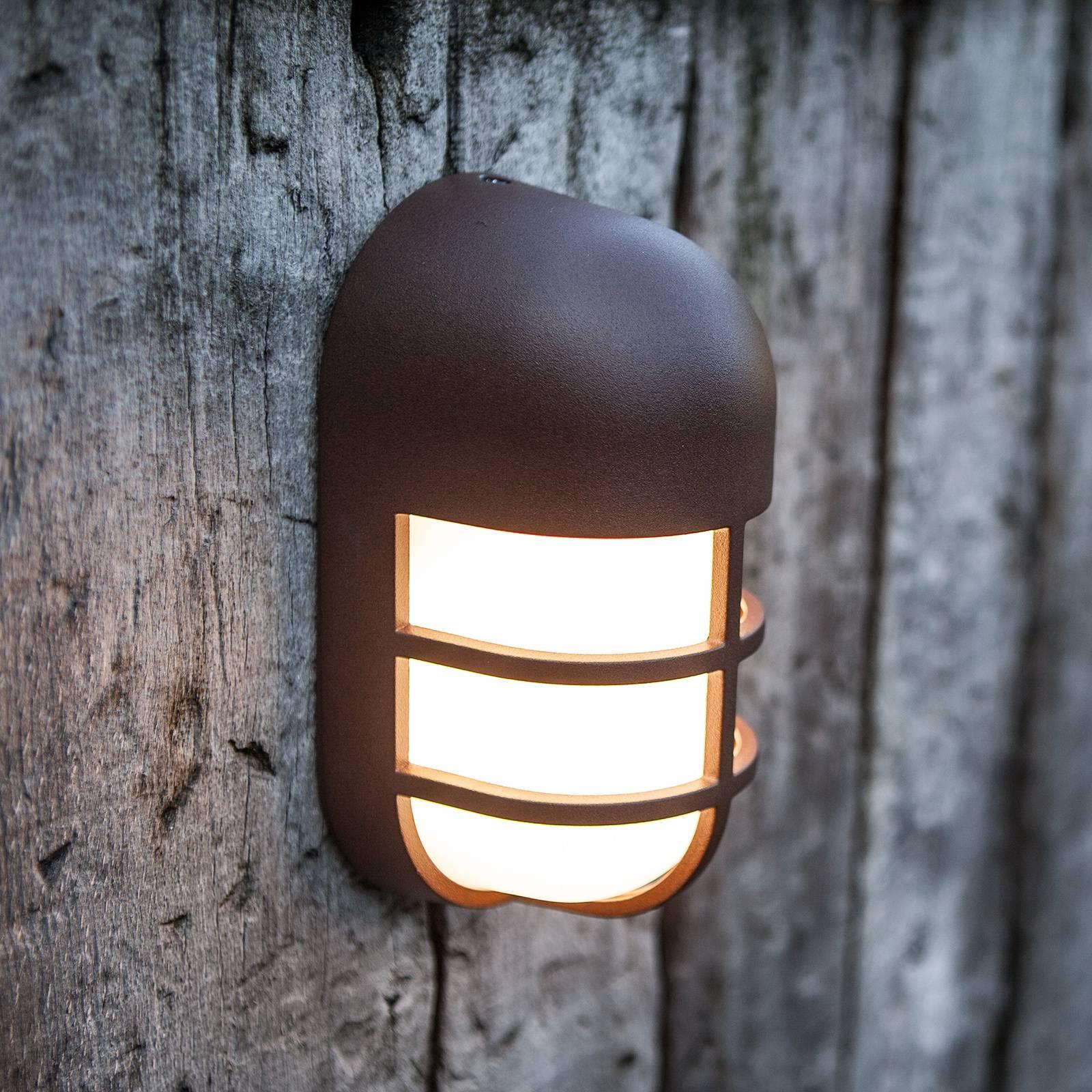 LED-ulkoseinävalaisin Bullo, ruosteenruskea