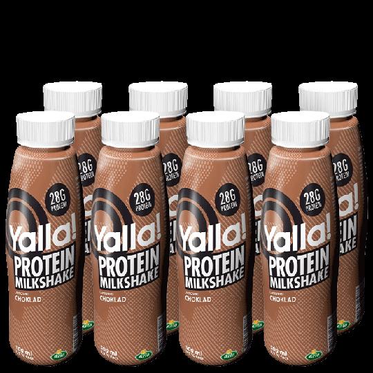 8 x Yalla Proteinshake, 500ml