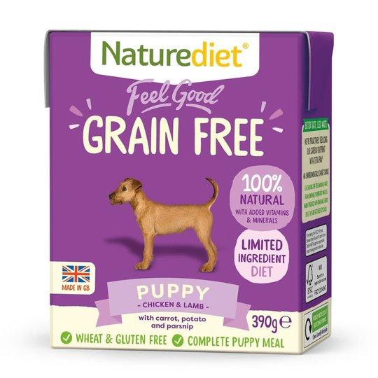 Naturediet Grain Free Puppy Kyckling & Lamm (390 g)
