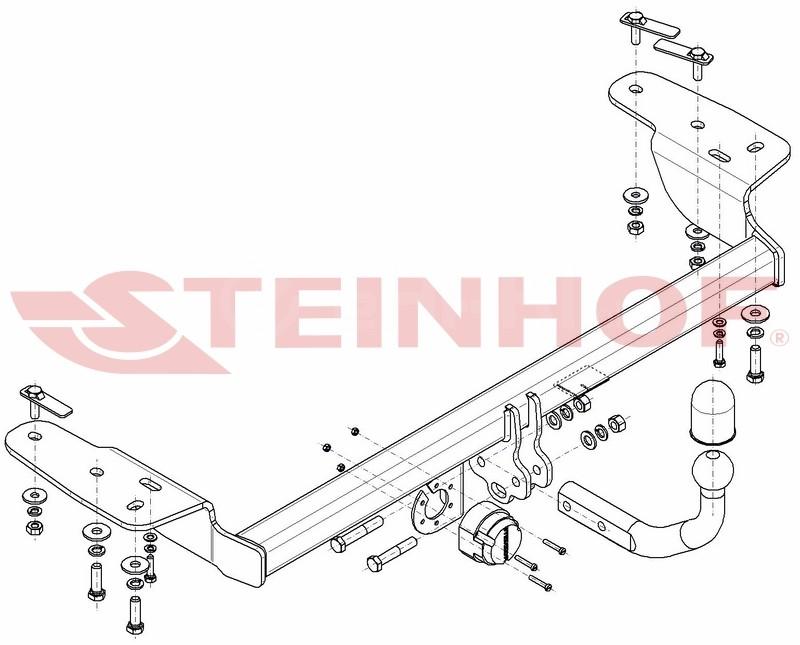 Vetokoukku STEINHOF STC-210 Chrysler 300C '04-