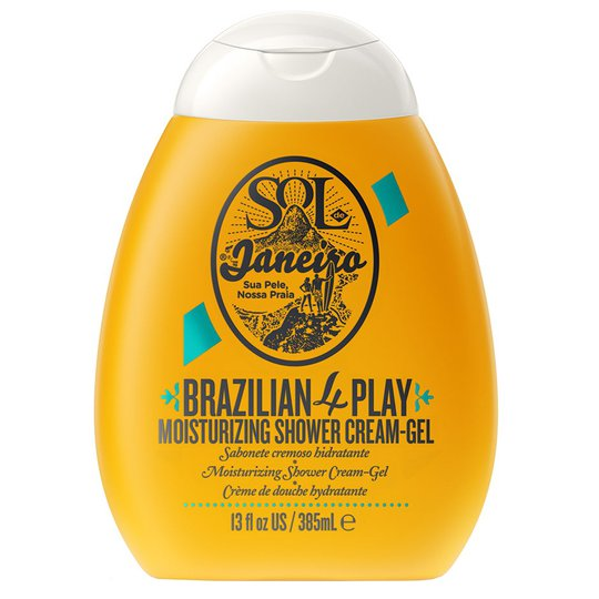 Brazilian 4 Play Moisturizing Shower Cream-Gel, 385 ml Sol De Janeiro Suihku- ja kylpytuotteet