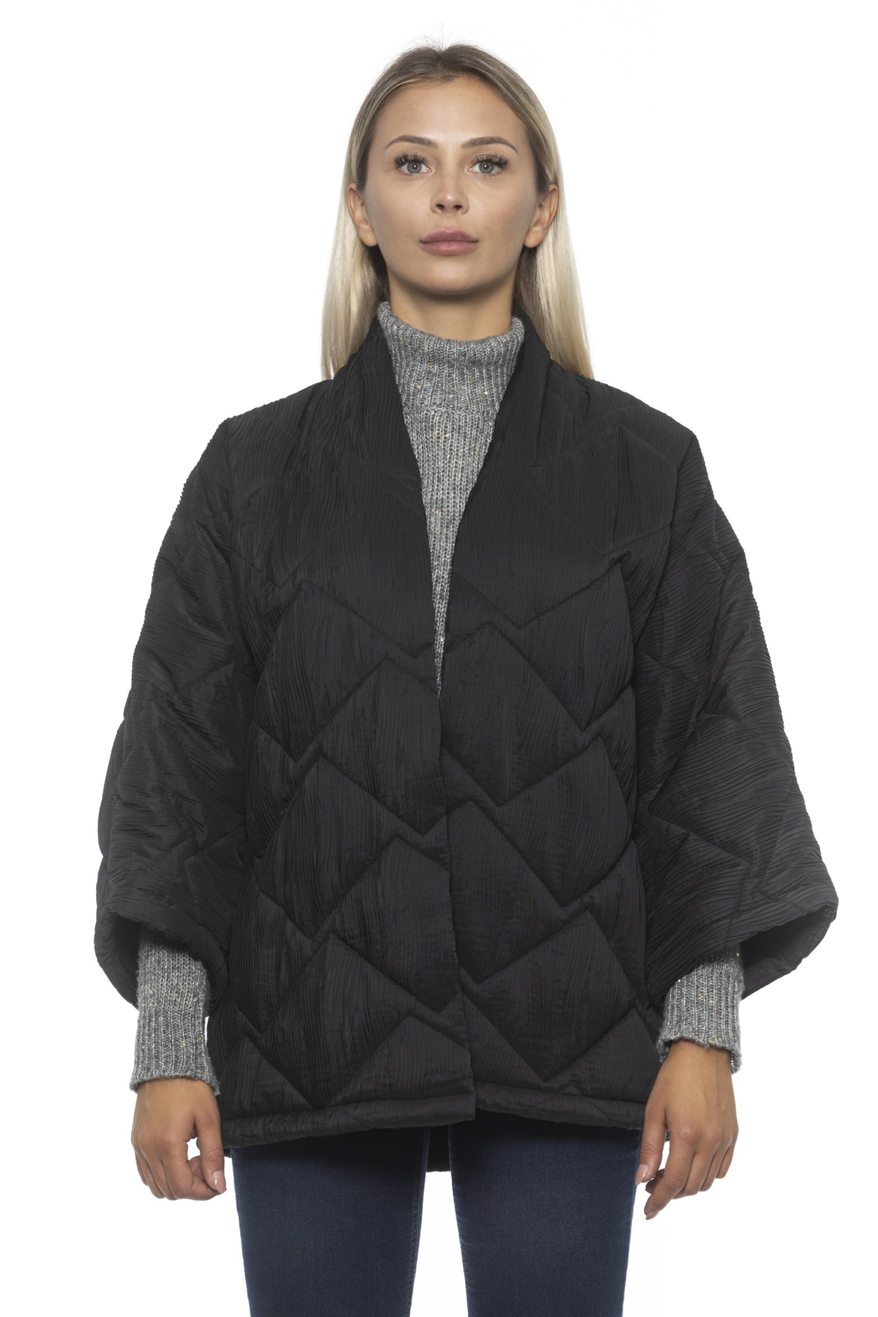 Alpha Studio Women's V A R. U N I C A Coat Black AL1192244 - One Size