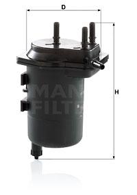 Polttoainesuodatin MANN-FILTER WK 939/5