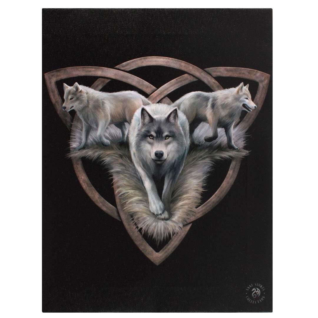 Vargar Canvastavla av Anne Stokes