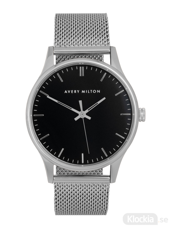 Avery Milton Como Steel Silver/Black 119440820 Unisexklocka