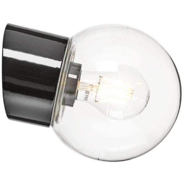 Ifö Electric 6044-510-16 Seinävalaisin kirkas, viisto, IP54 Musta