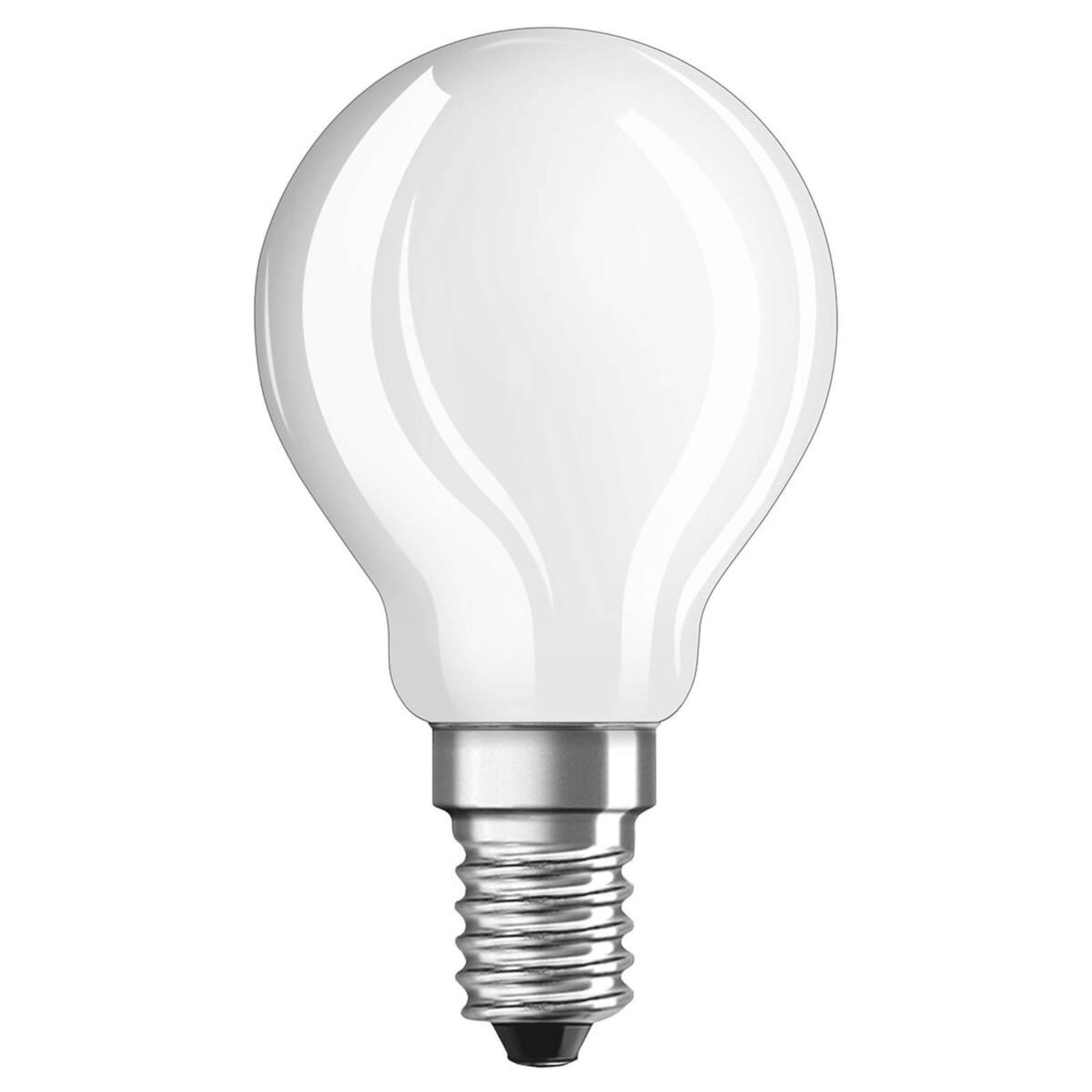 OSRAM-LED-golfpallolamppu E14 4W päivänvalo matta