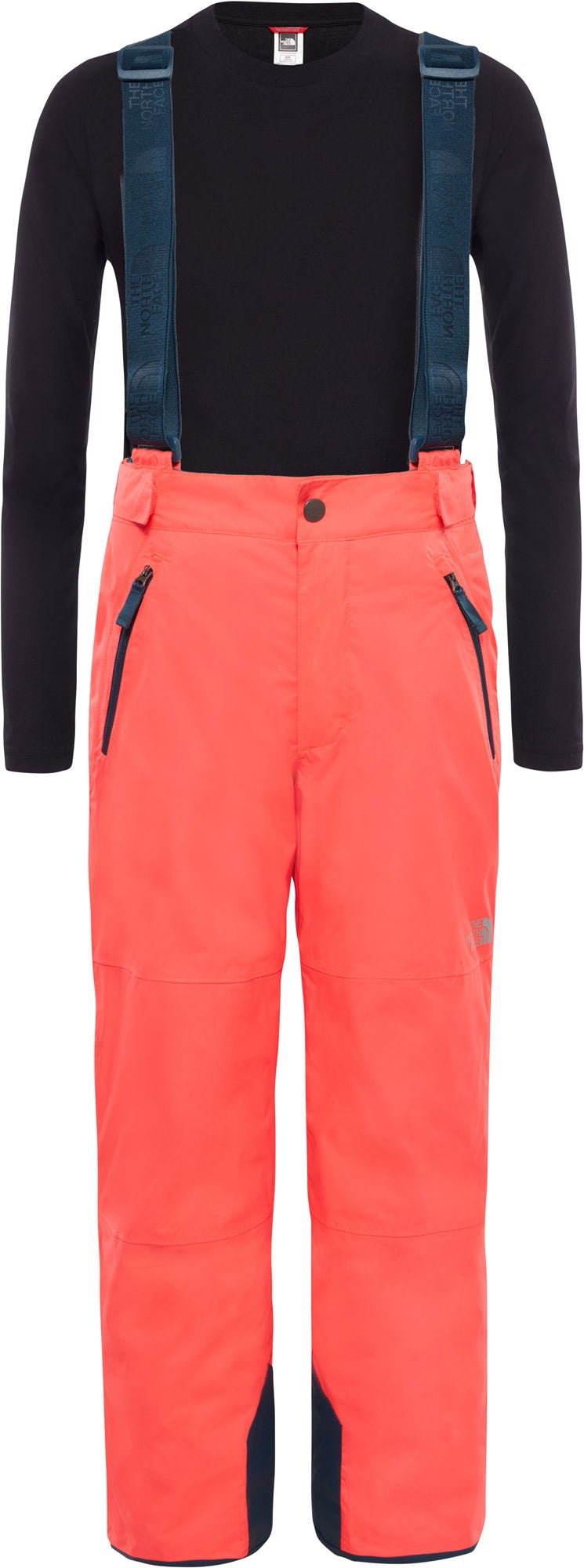 The North Face Snowquest Suspender Plus Byxa Barn, Rocket Red L