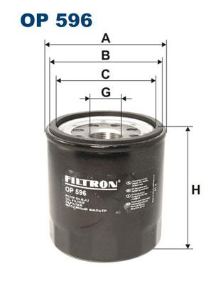 Öljynsuodatin FILTRON OP 596