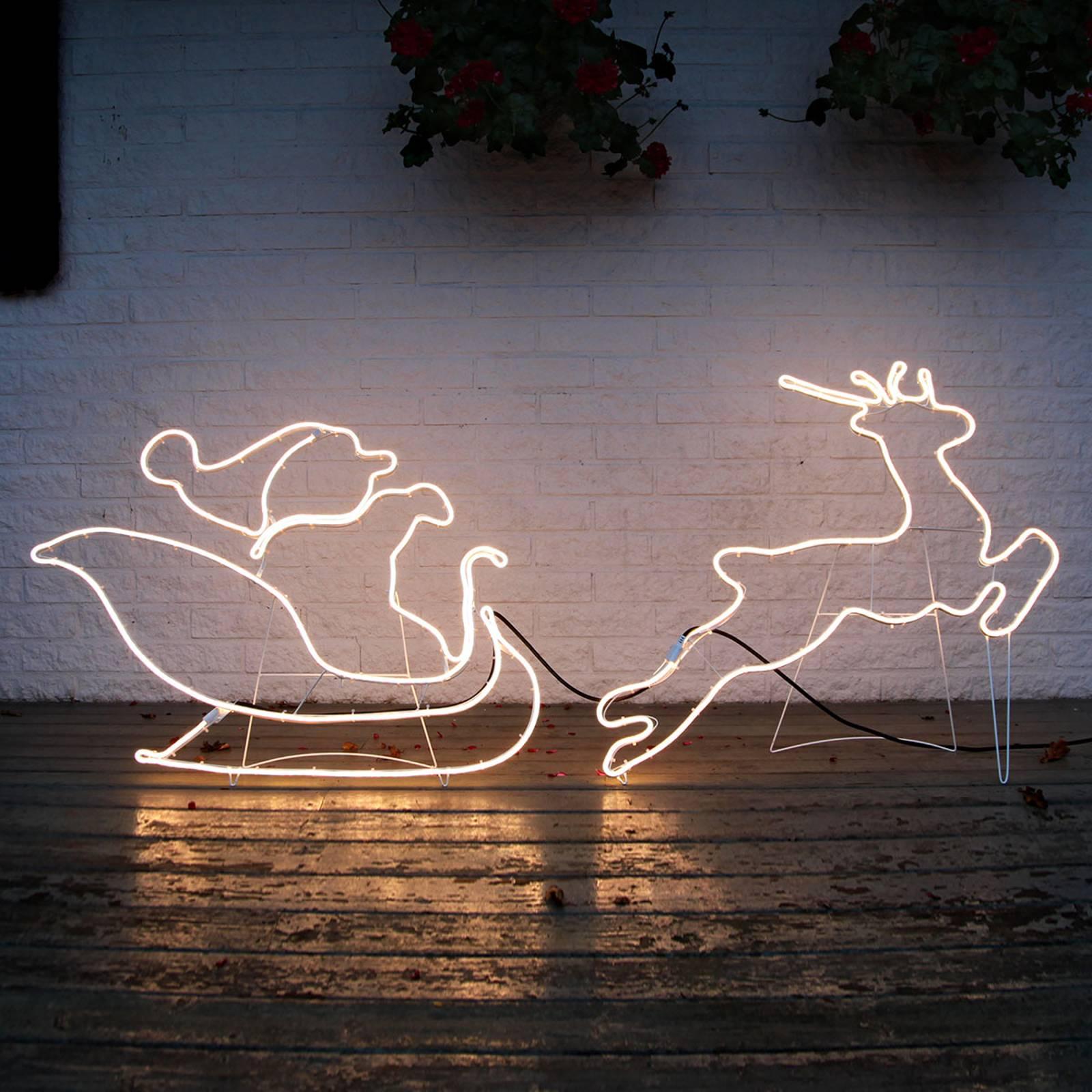 Kelkka joulupukin kanssa - siluetti NeoLED