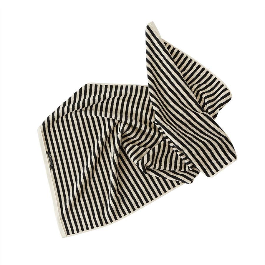 OYOY Living - Raita Organic Bath Towel - 70x140 cm - Clay / Black