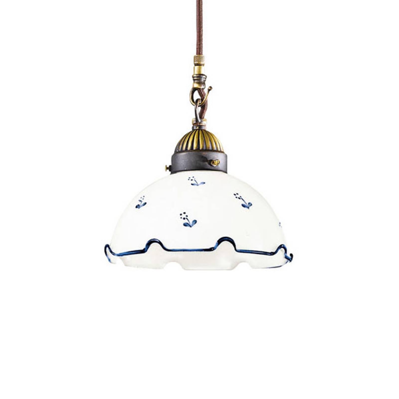 Riippuvalo Nonna Ø 20 cm 1-lamppuinen sininen