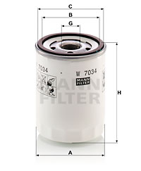 Öljynsuodatin MANN-FILTER W 7034