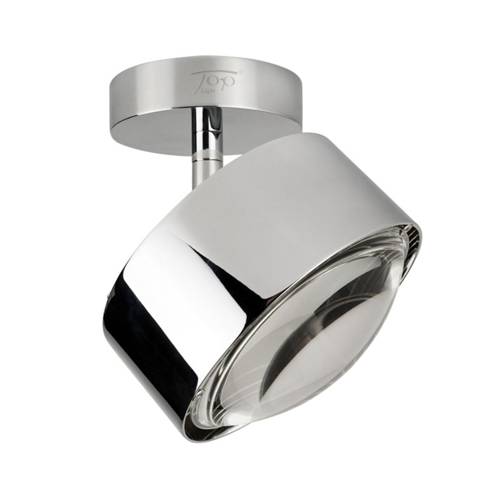 LED-vegglampe Puk Maxx Turn, krom