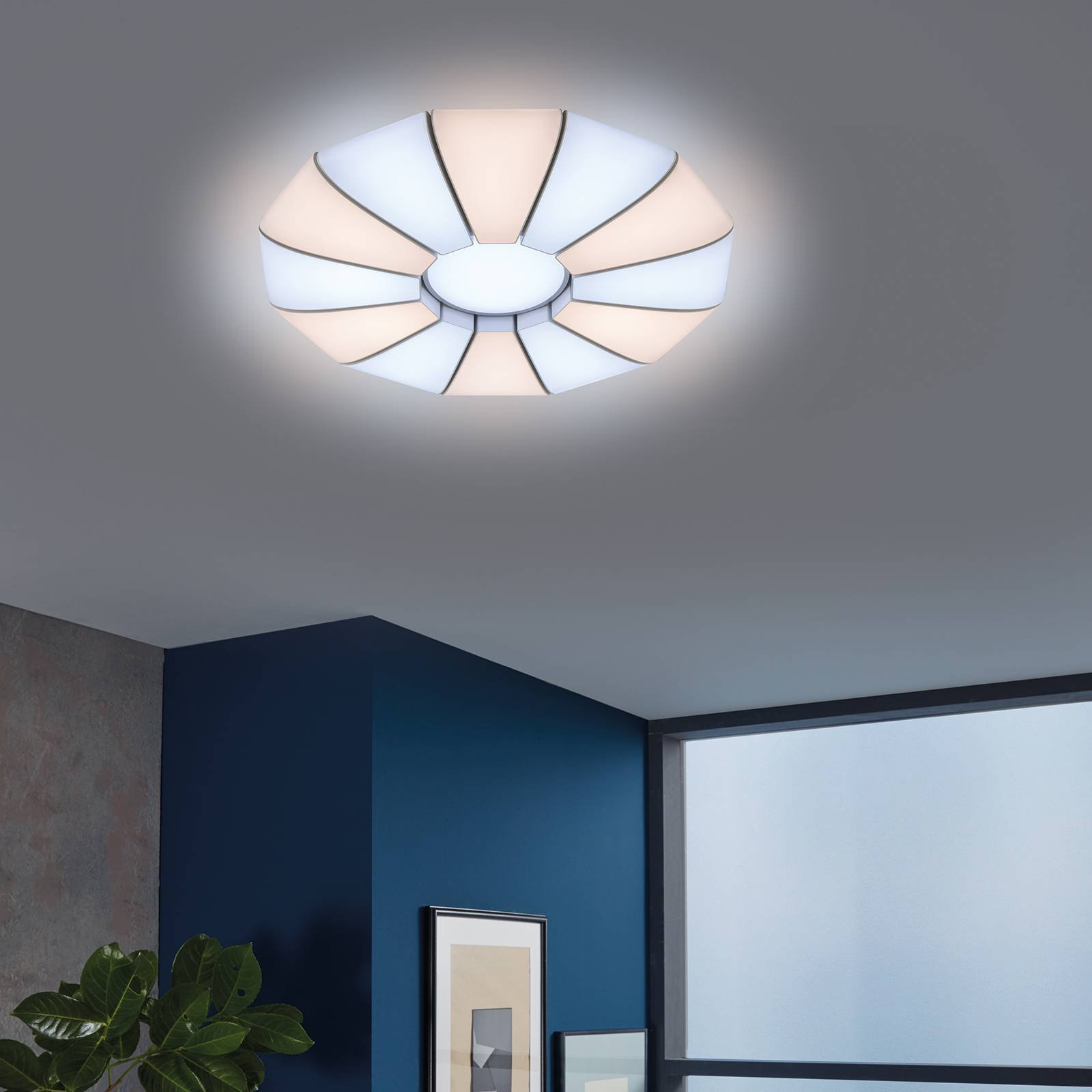 LED-taklampe Roger tunable white, fjernkontroll