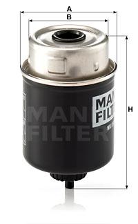Polttoainesuodatin MANN-FILTER WK 8100