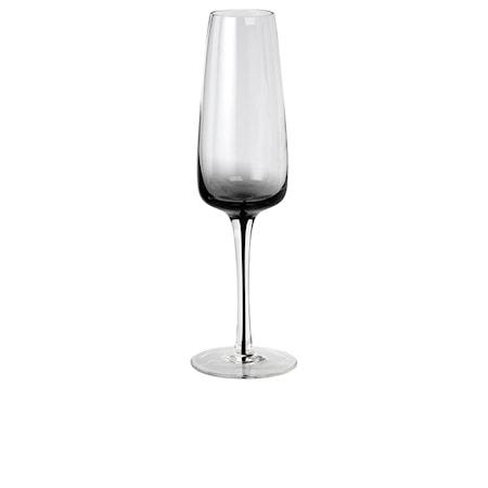 Champagneglas Smoke Klar/Grå