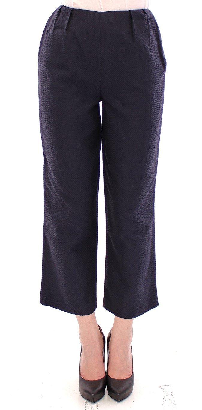 Andrea Incontri Women's Cropped Cotton Trouser Blue GSS10705 - IT42|M