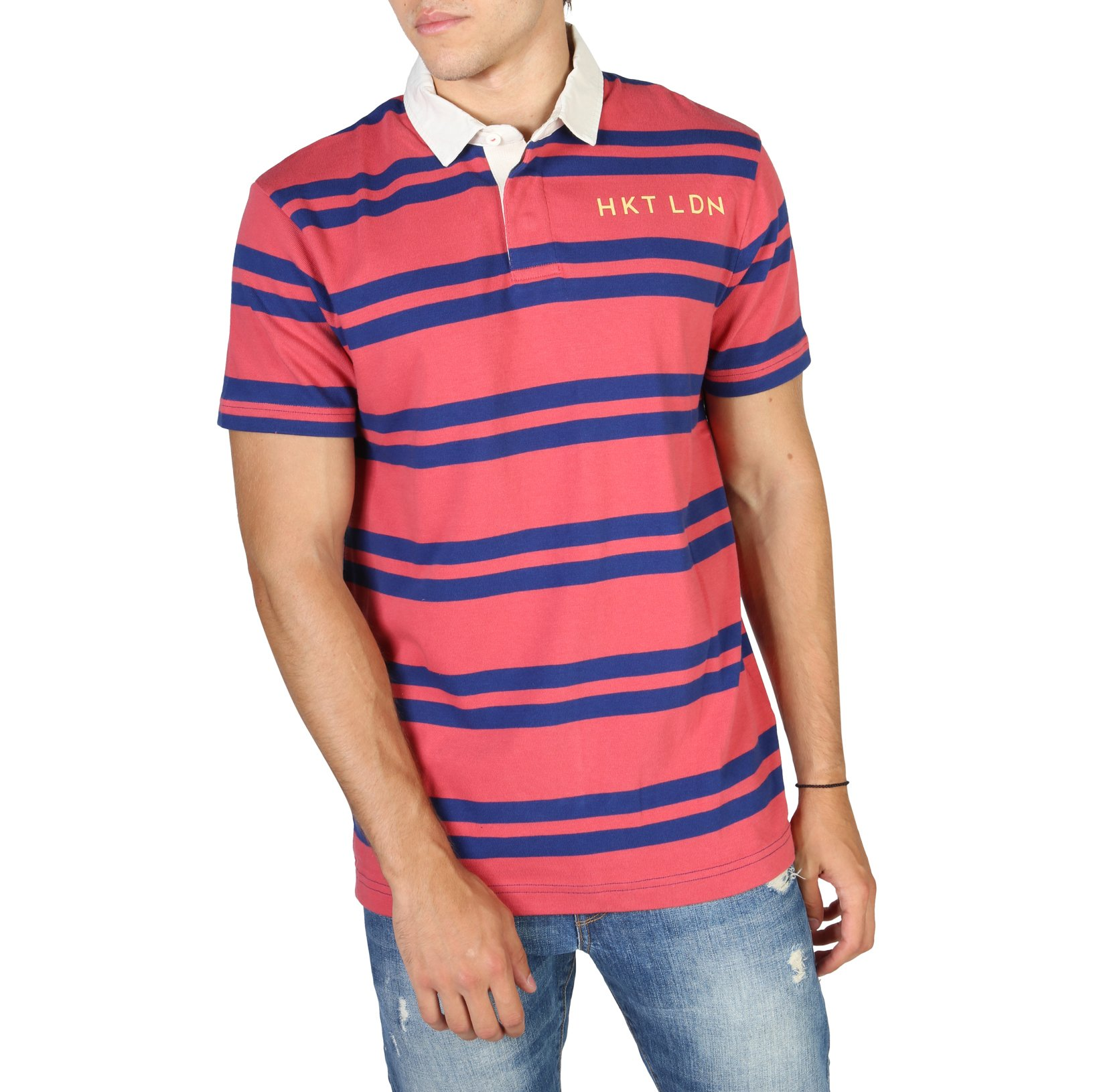 Hackett Men's Polo Shirt Various Colours HM570732 - red M