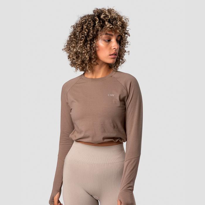 Define Cropped Adjustable Long Sleeve, Desert Sand