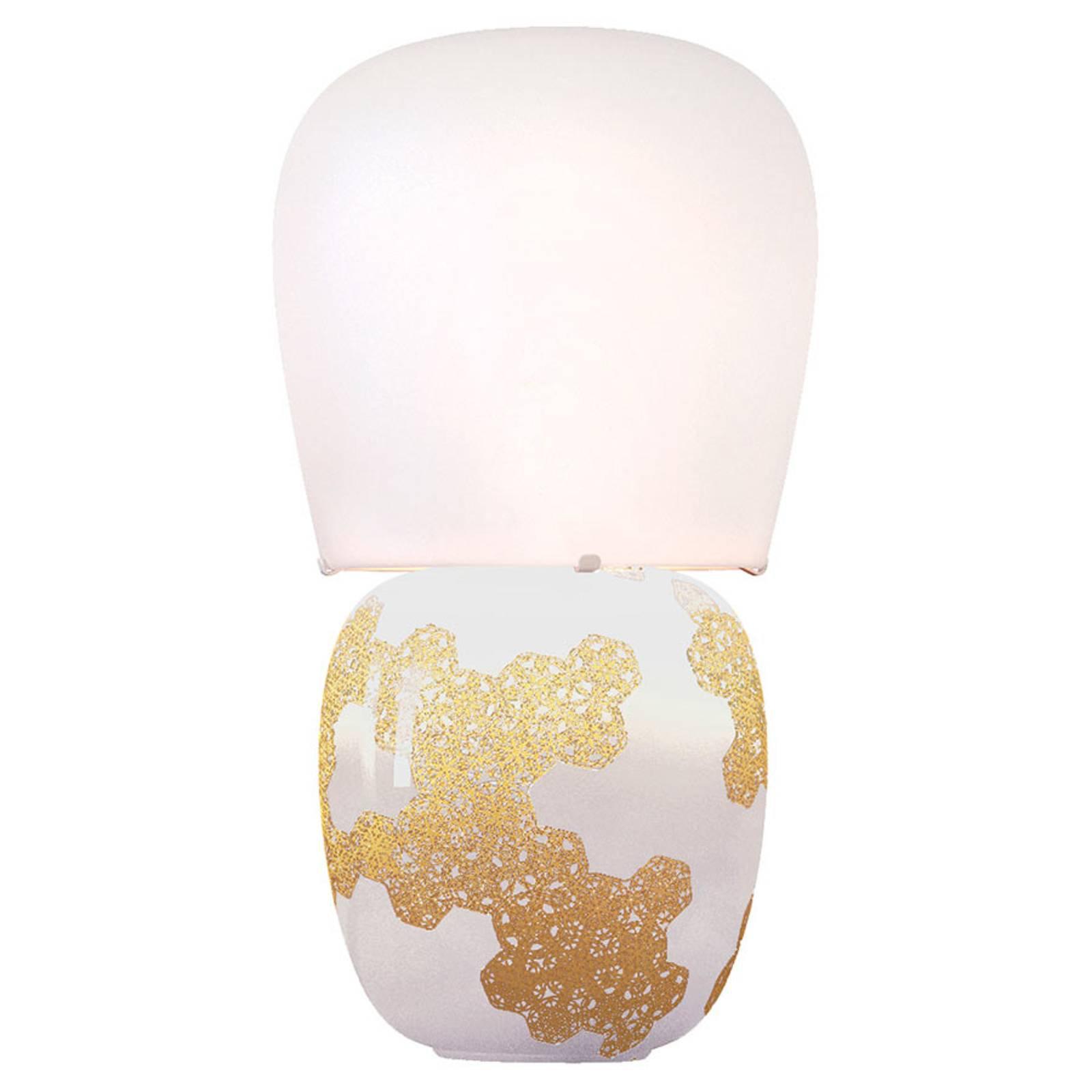 Kundalini Hive - keramisk bordlampe, hvit