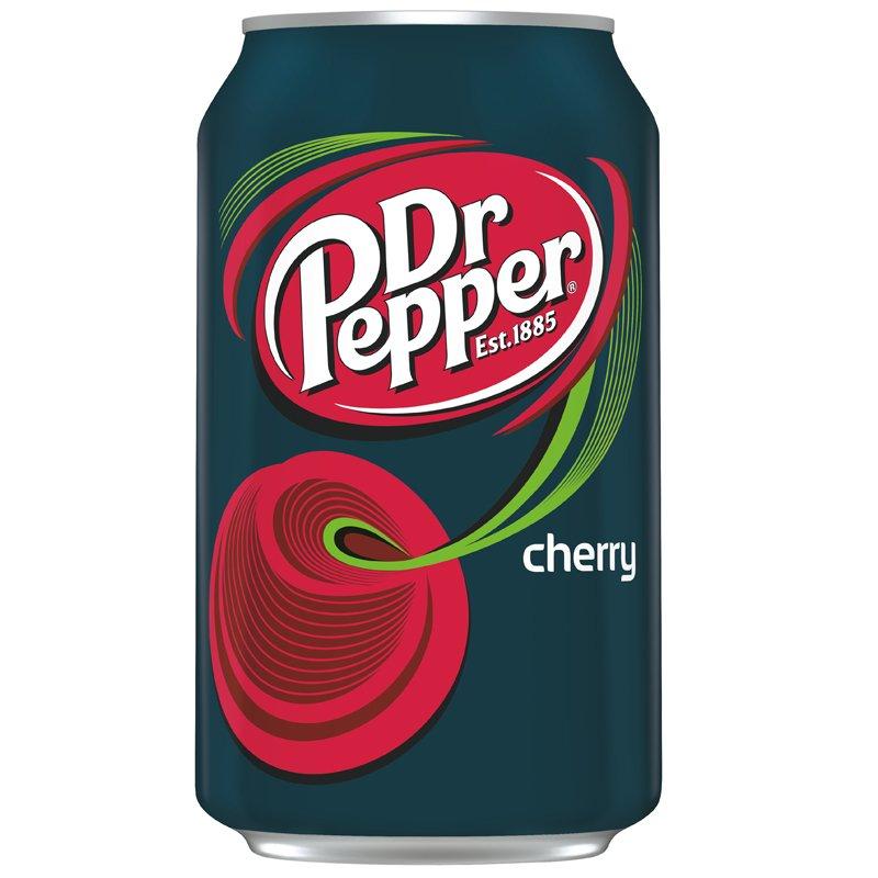 """Läsk """"Dr Pepper Cherry"""" 355ml - 37% rabatt"""