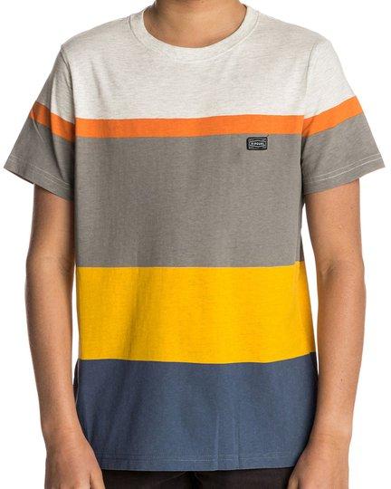 Rip Curl Edge Striped SS Tee T-shirt, White Marle 140
