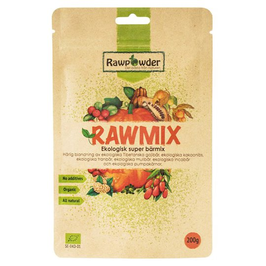 Rawpowder Ekologisk Superbärmix RAW, 200 g
