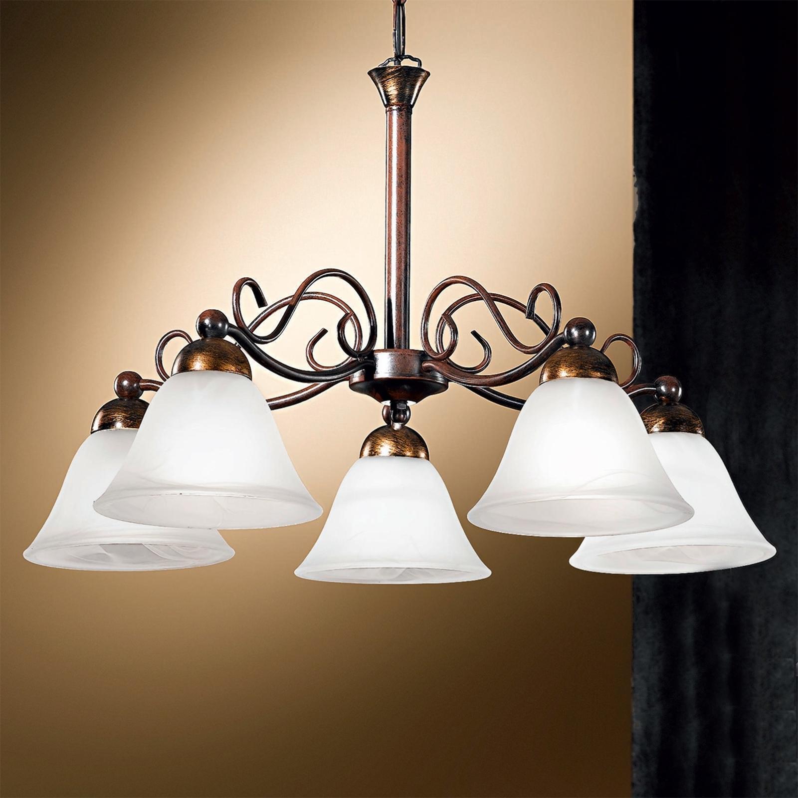 Koristeellinen JONTE riippuvalaisin, 5-lamppuinen