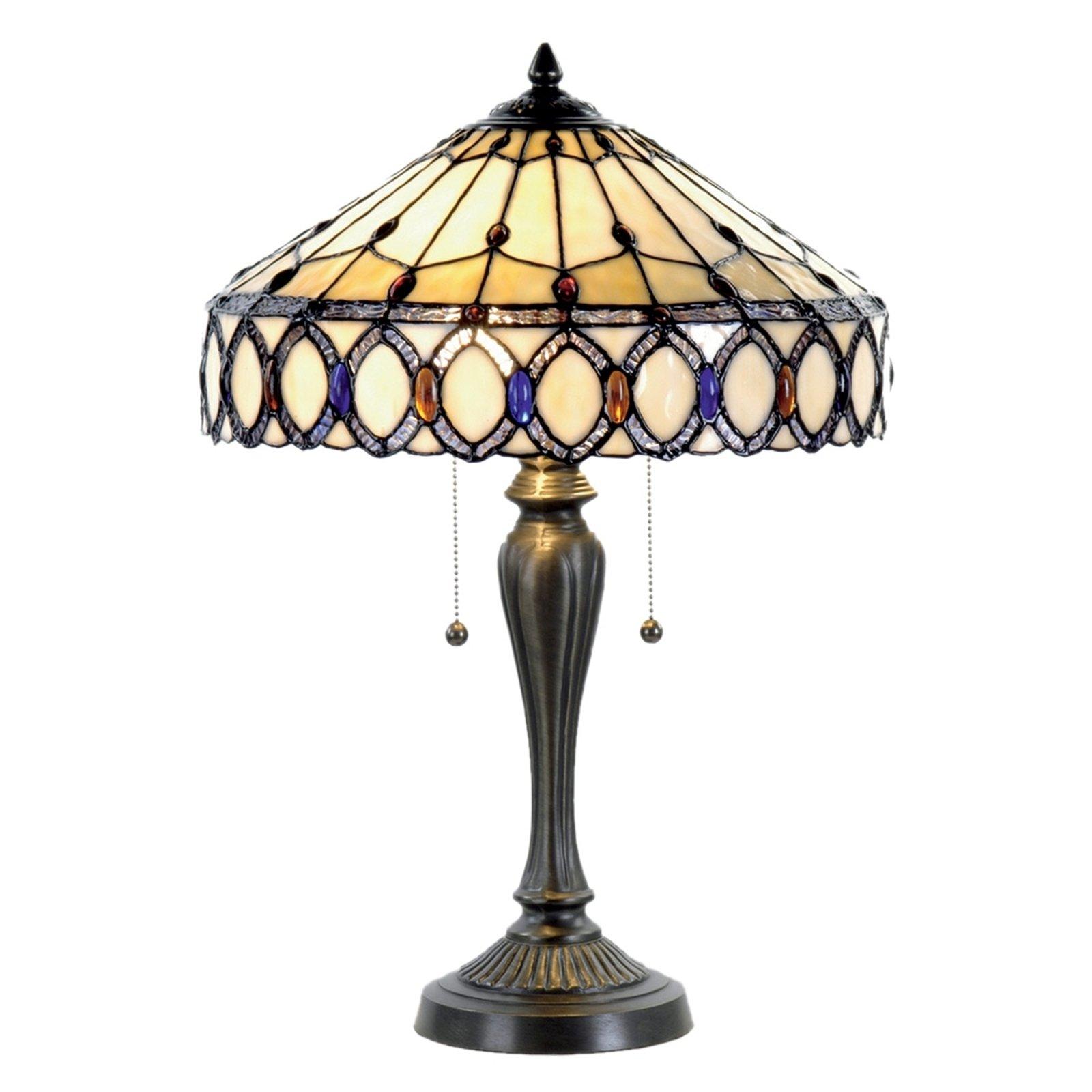 Attraktiv bordlampe Fiera i Tiffany-stil