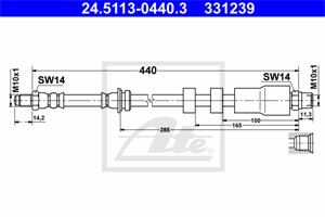 Jarruletku, Etuakseli, BMW 3 [E90], 3 Coupé [E92], 3 Touring [E91], 34 30 6 771 690, 34 30 6 793 026