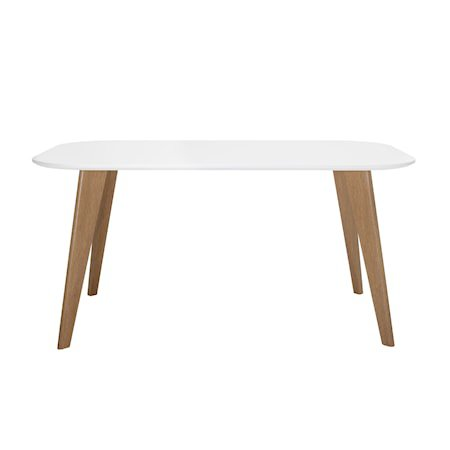 Mill Dining Table, White, MDF