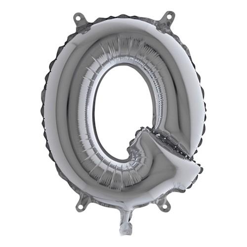 Bokstavsballong Mini Silver - Bokstav Q