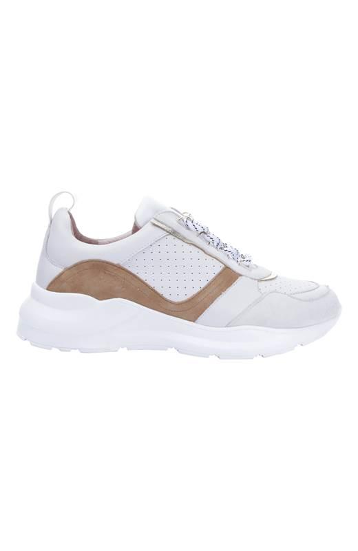 Dasia Sneakers i skinn/mocka June Vit Beige
