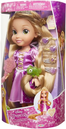 Disney Princess Rapunzel Langt Hår, 38 Cm