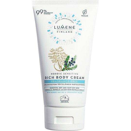 Nordic Sensitive Fragrance-free Rich Body Cream, 150 ml Lumene Vartalovoiteet