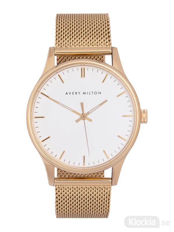 Avery Milton Como Steel Gold/White 119140720 Unisexklocka