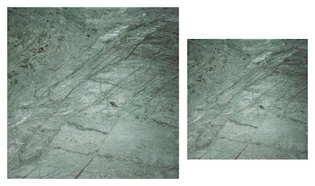 Stella Toppskive, satsbord, grønt marmorglass (sett med 2)