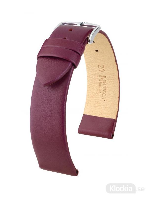 Klockarmband Hirsch Toronto 16mm Medium Vinröd/Silver 03702186-2-16