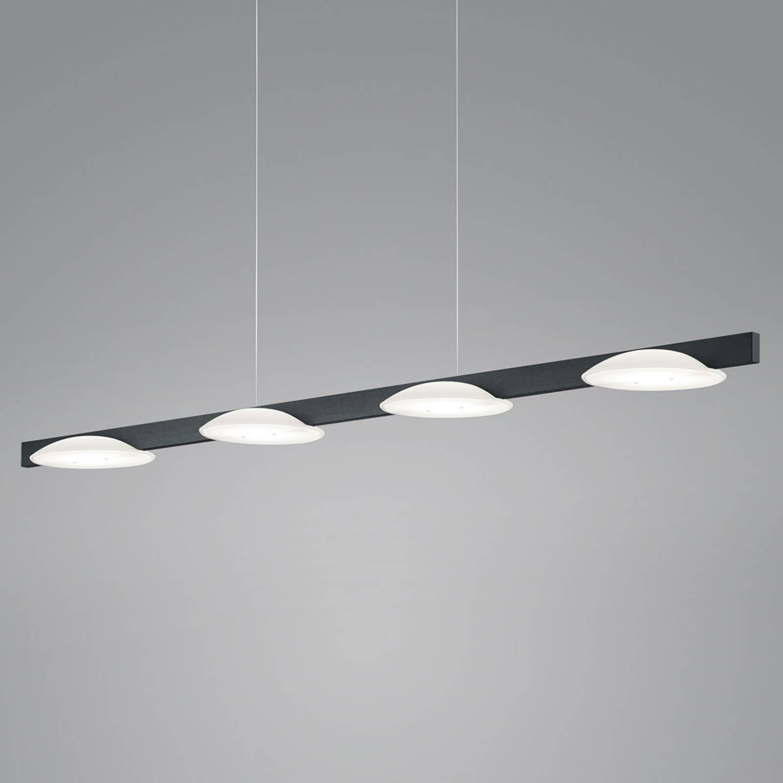Helestra Pole -LED-riippuvalaisin 4-lamp. musta