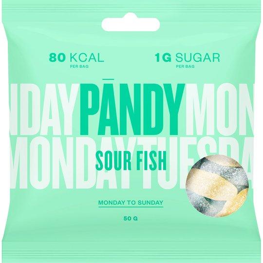 Sockerfritt godis Sour Fish - 33% rabatt