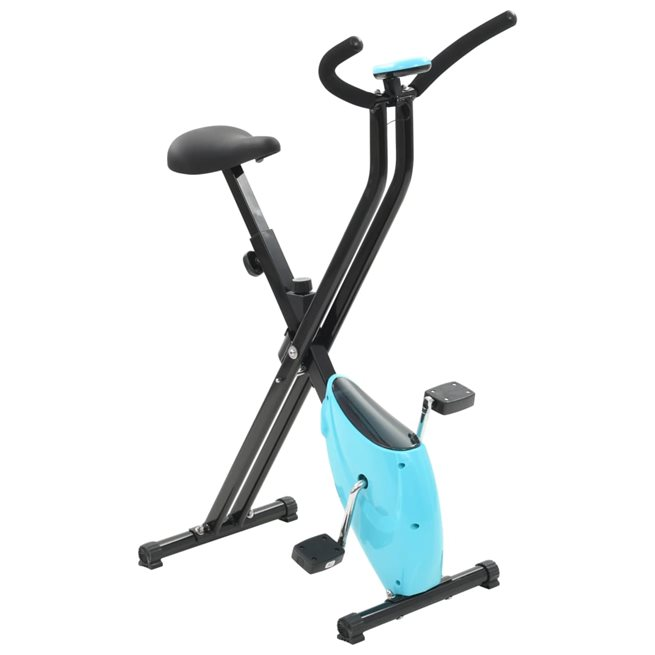 vidaXL Träningscykel X-bike remdrift blå