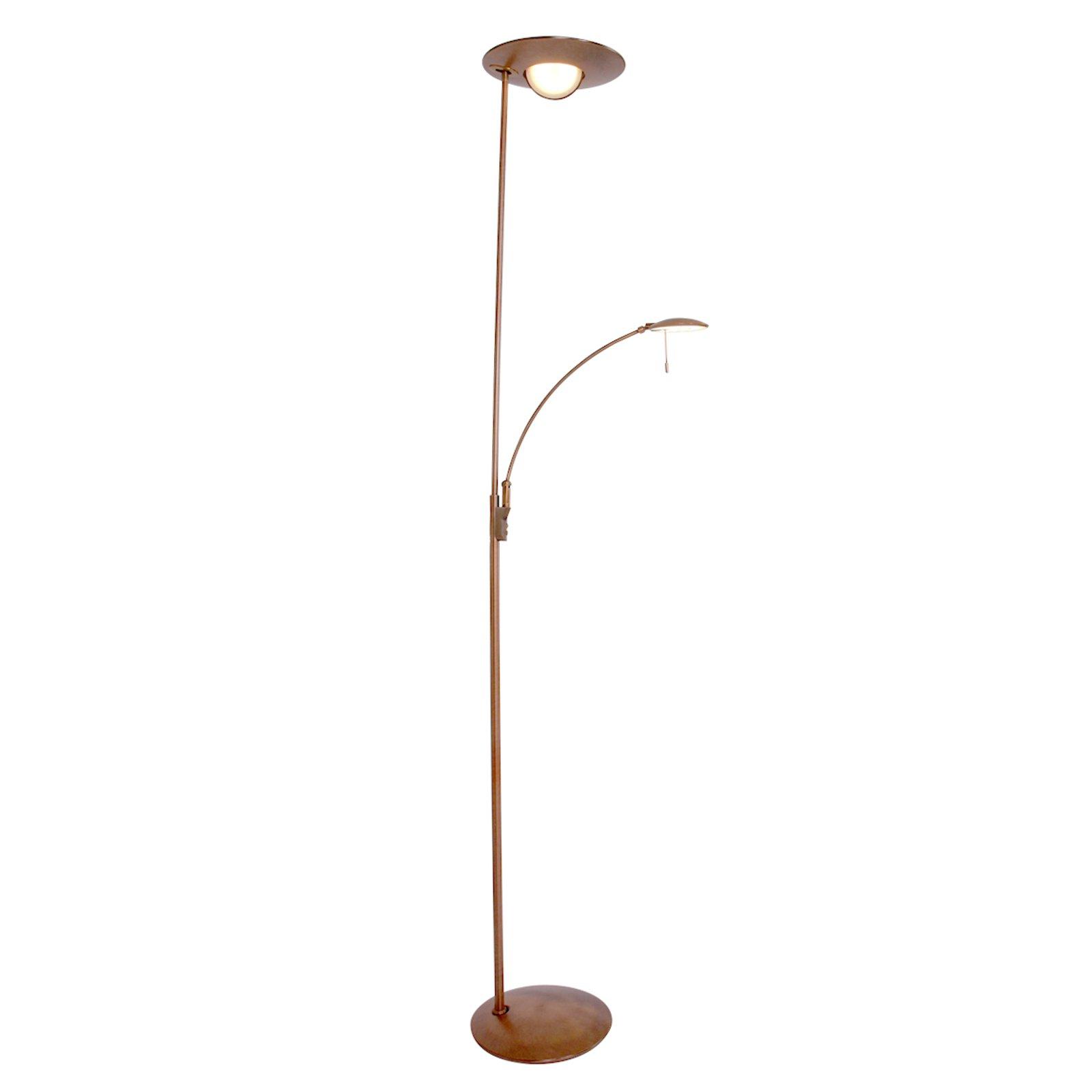 Bronsefarget LED-gulvlampe Zenith, dimmer