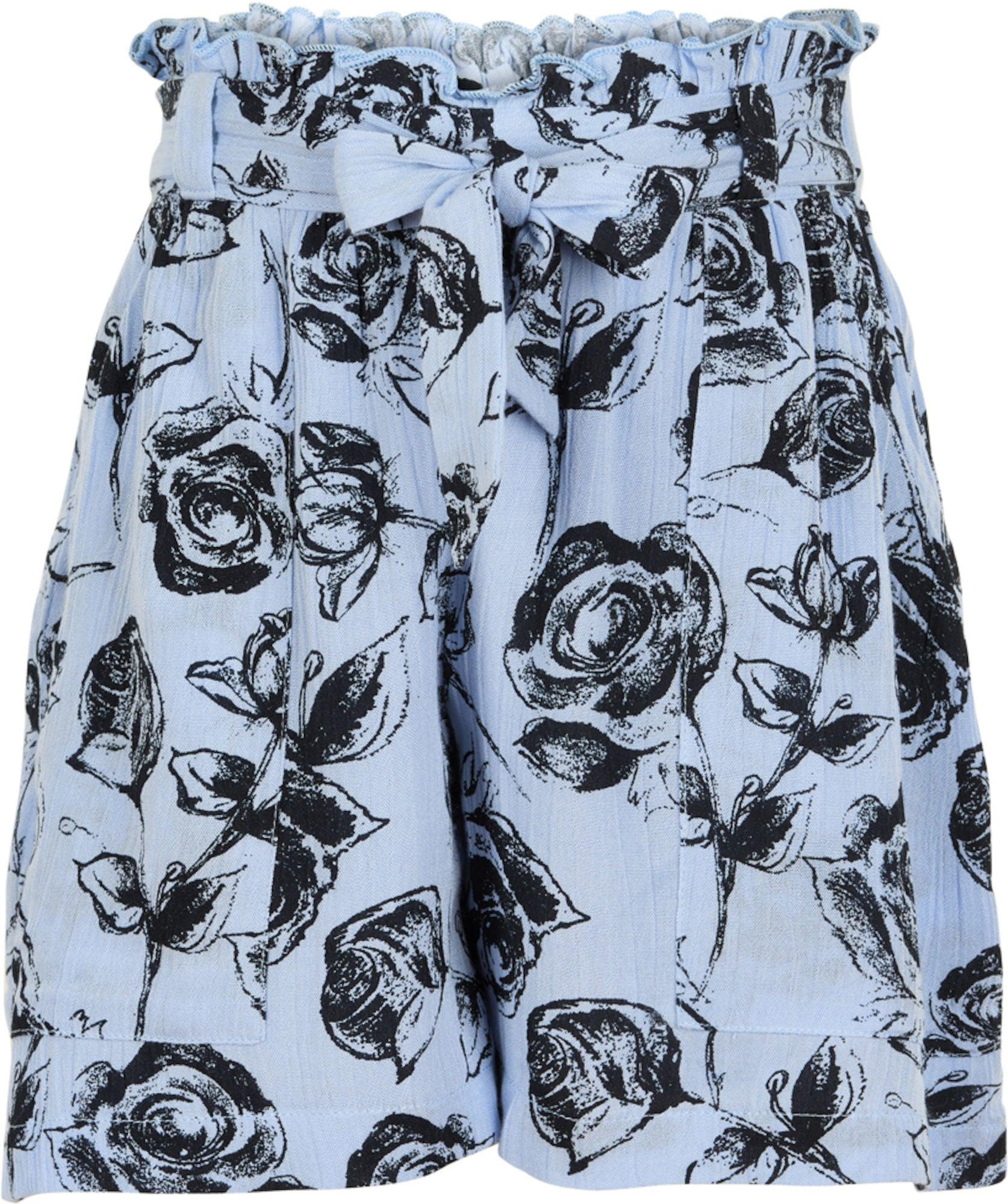 Creamie Roses Shorts, Xenon Blue 116
