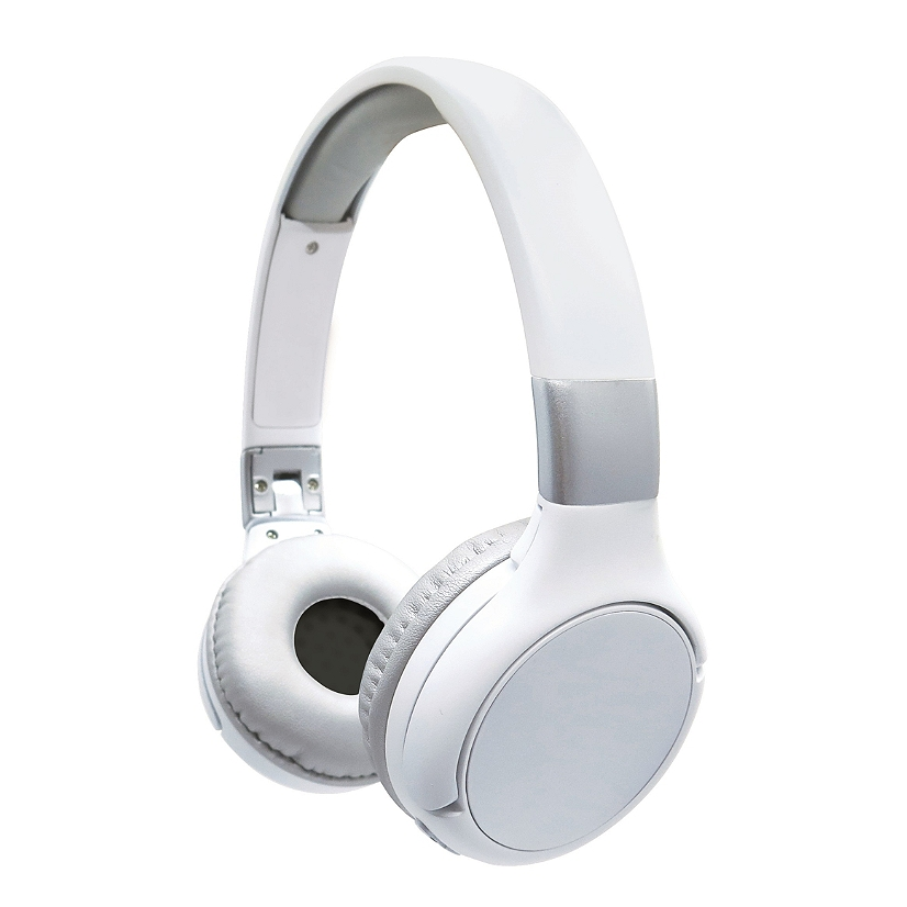 Lexibook - 2 in 1 Bluetooth and Wired comfort foldable Headphones – White/silver