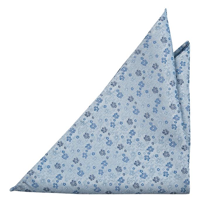 Silke Lommetørkler, Blomster i 3 nyanser av blått på gråblå base